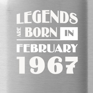 Legends are born in February 1967 - Water Bottle