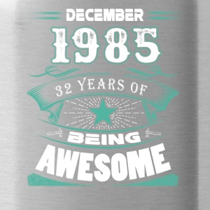 December 1985 - 32 years of being awesome - Water Bottle