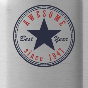 70th Birthday Awesome since T Shirt Made in 1947 - Water Bottle