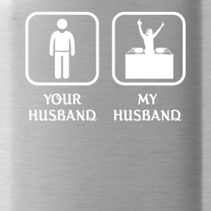 Husband DJ Love- cool shirt,geek hoodie,tank - Water Bottle