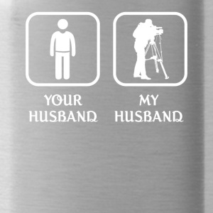 Husband Film Editor Love- cool shirt,geek hoodie,t - Water Bottle