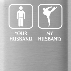 Husband MMA Player Love- cool shirt,geek hoodie - Water Bottle