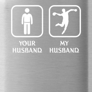 Husband Handball Player Love- cool shirt,geek hood - Water Bottle