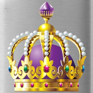 Monarch vip golden royal crown King gold art cool - Water Bottle