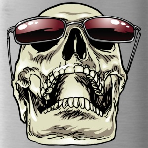 Skull_with_sunglasses - Water Bottle