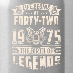 Life Begins At Forty Two Tshirt - Water Bottle