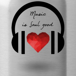 Music is soul good - Water Bottle