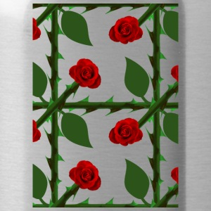 Red Rosen Pattern - Water Bottle