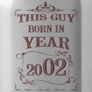 this guy born in year 2002 - Water Bottle