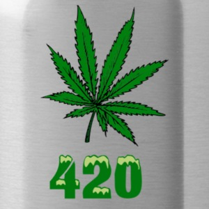 420 POT MARIJUANNA WEED LEAF - Water Bottle