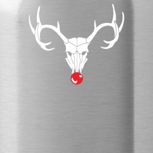 Black Reindeer Skull - Water Bottle