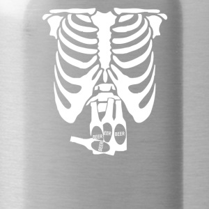 Beer Belly Xray Skeleton Funny - Water Bottle