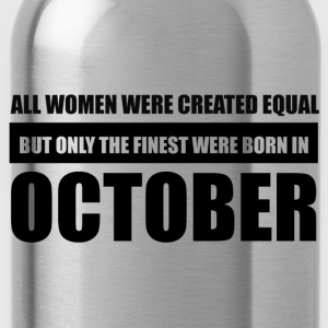 All women were created equal October designs - Water Bottle