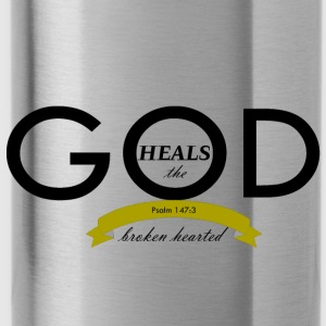 God Heals the Broken Hearted - Water Bottle