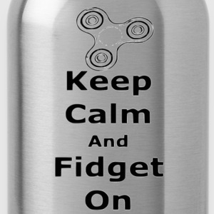 Keep Calm Fidget on - Water Bottle