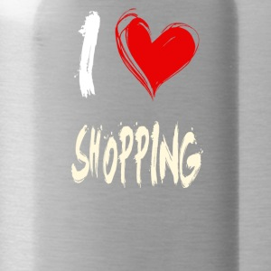 I love SHOPPING - Water Bottle
