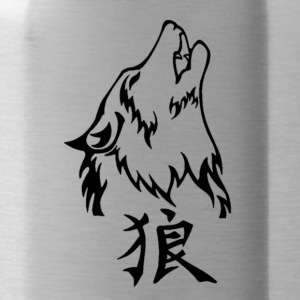 Wolf Tattoos Transparent - Water Bottle