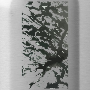 black and white 02 - Water Bottle