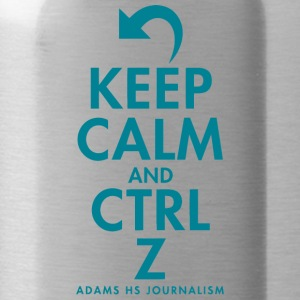 Keep Calm And Cntrl Z Adams HS Journalism - Water Bottle