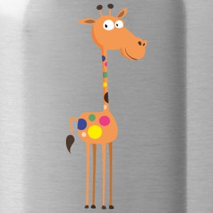 giraffe animal wildlife image cool art - Water Bottle