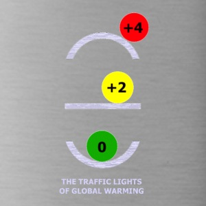 TRAFFIC LIGHTS OF GLOBAL WARMING - Water Bottle