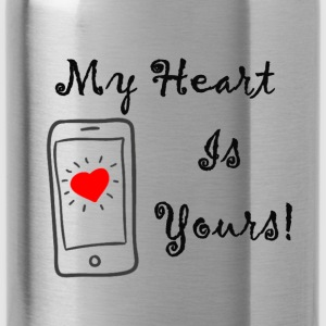 my heart is yours - Water Bottle