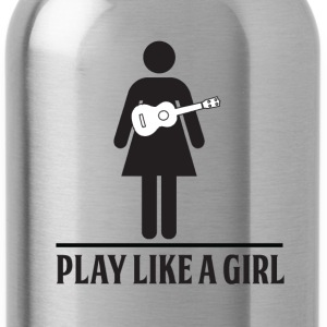 Play like a girl - ukulele - Water Bottle