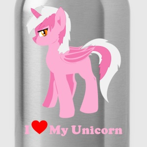 i love my pink fantasy unicorn - Water Bottle