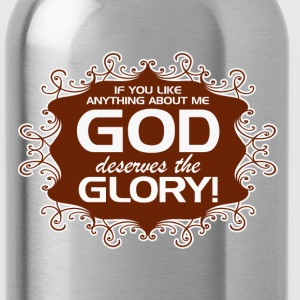 GOD_GETS_THE_GLORY--in_brown - Water Bottle