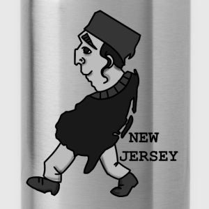 A funny map of New Jersey 2 - Water Bottle