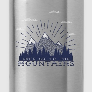 Adventure Mountains T-shirts and Products - Water Bottle