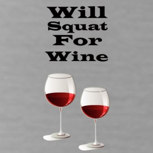 Will squat for wine - Water Bottle