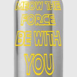 Meow The Force Be With You/ Yellow Outline - Water Bottle