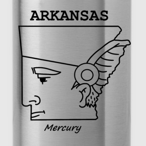 A funny map of Arkansas - Water Bottle