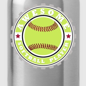 Symbol of an Awesome Softball Player - Water Bottle