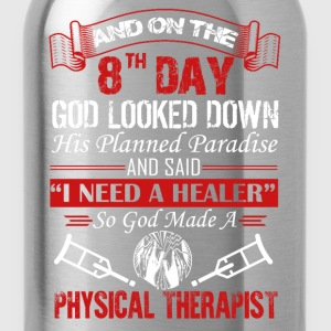 God Made Physical Therapist Shirt - Water Bottle
