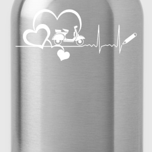 Scooter Heartbeat Shirt - Water Bottle