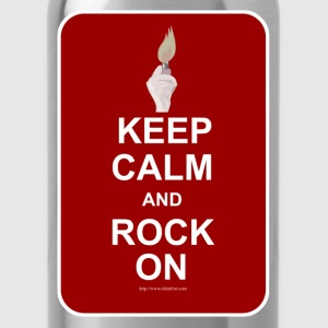 Keep Calm Rock On - Water Bottle