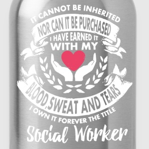 Forever The Title Social Worker Shirt - Water Bottle