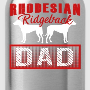 Rhodesian Ridgeback Dad Shirt - Water Bottle