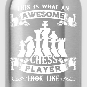 Awesome Chess Player Shirt - Water Bottle