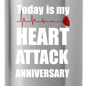 Heart attack anniversary - Water Bottle