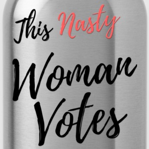 This Nasty Woman Votes Never Trump - Water Bottle