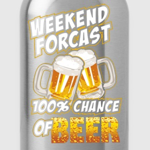 Weekend Forecast 100% Chance Of Beer - Water Bottle
