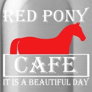 Red Pony Cafe Shirt - Water Bottle