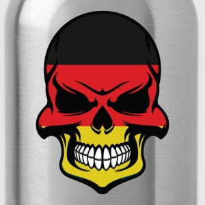 German Flag Skull Cool Germany Skull - Water Bottle