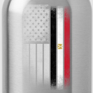 Egyptian American Flag - Water Bottle