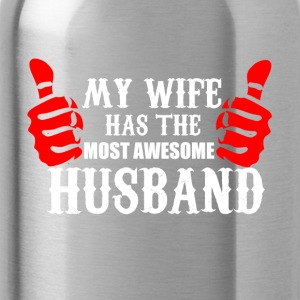 Wife and Husband funny shirt - best husband - Water Bottle