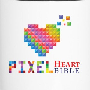 Pixel Heart Bible Logo - Travel Mug