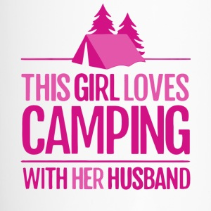 This Girl Loves Camping With Her Husband T Shirt - Travel Mug